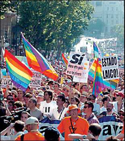 Pride Protest in Spain