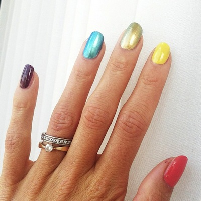 (Emma Green Tregaro/Instagram)  Tregaro, a Swedish high jumper recently painted her nails rainbow colors while competing at the world championships this weekend.  Her and her teammates' small protest elicited ire from Russian athlete Yelena Isinbayeva, who said Tregaro's actions were disrespectful to Russia.  Tregaro recently complied with the Swedish track and field federation's request that she repaint her nails, as political displays are against the rules.