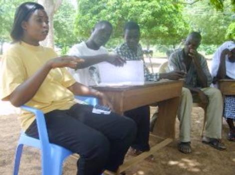 Members of CAT at Chamba at a team meeting