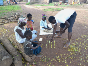 Training alleged women on agronomic practices and value addition in Henna farming.